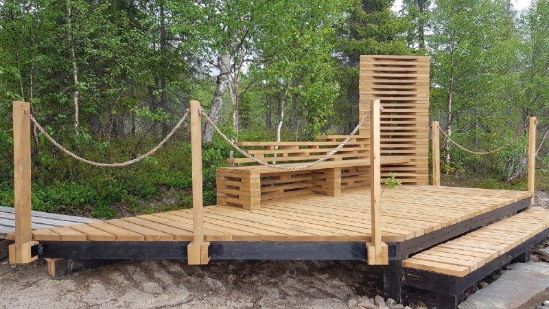 Смотровую площадку построили на берегу Чунозера