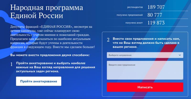 Повлиять на программу партии «Единая Россия» теперь может любой