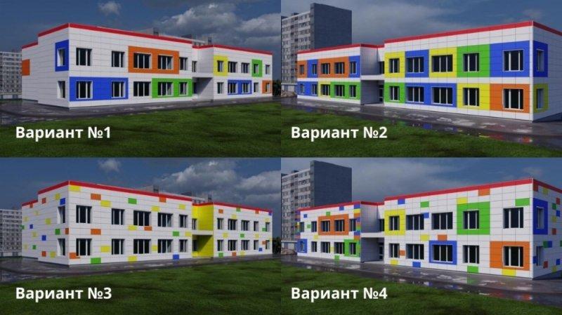 Как будет выглядеть фасад нового детсада, решают мурманчане