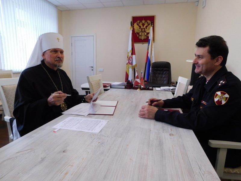 Соглашение о сотрудничестве подписали Мурманская епархия и Росгвардия