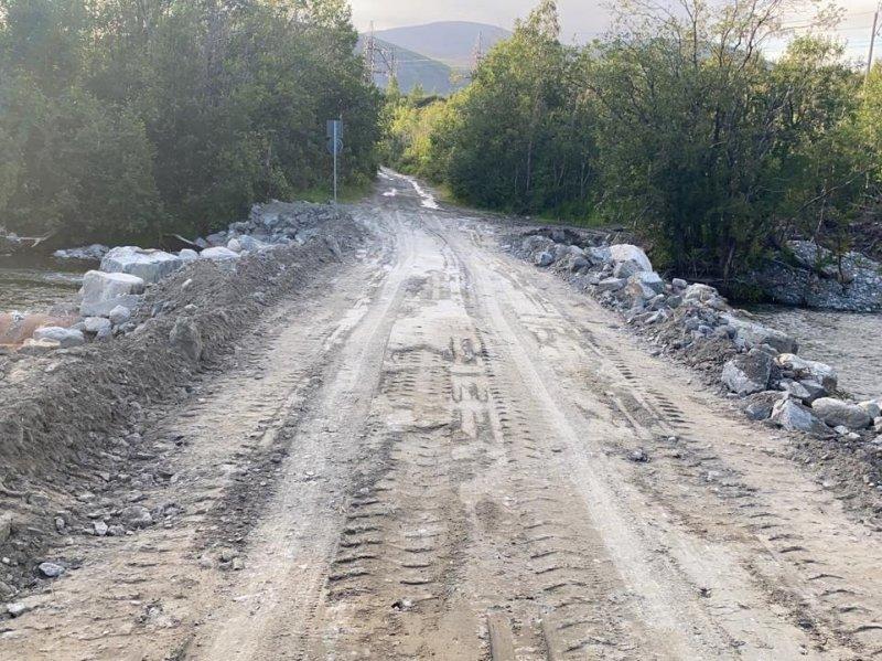 Восстановили переправу через реку Белая в Кировске