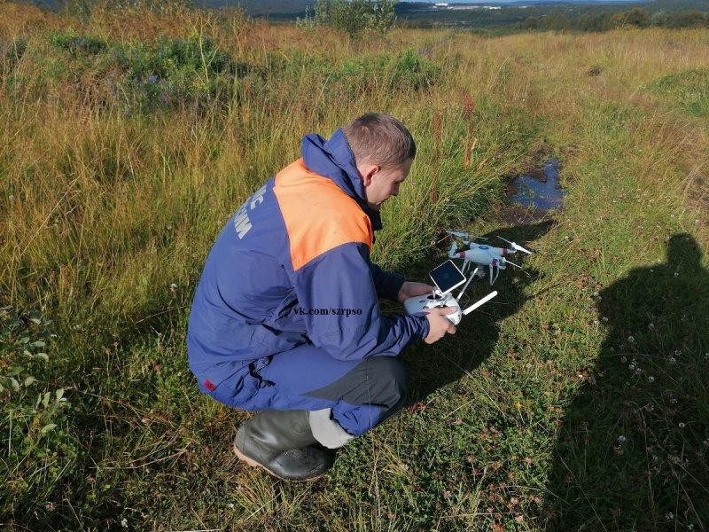 С помощью беспилотника ищут 84-летнюю северянку в лесу Североморска
