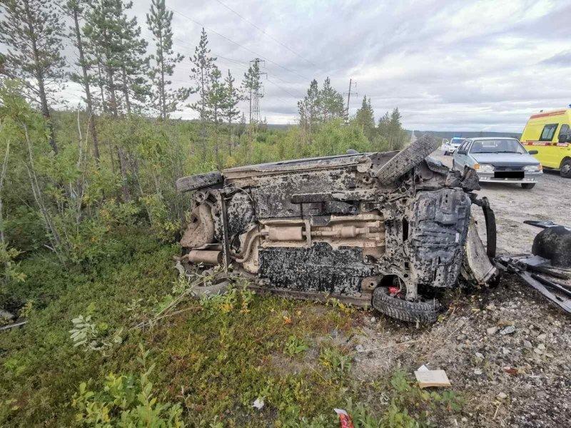 Пострадал водитель в аварии с «перевертышем» близ Мончегорзка