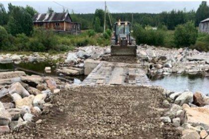 Восстановили переправу через реку Ниву