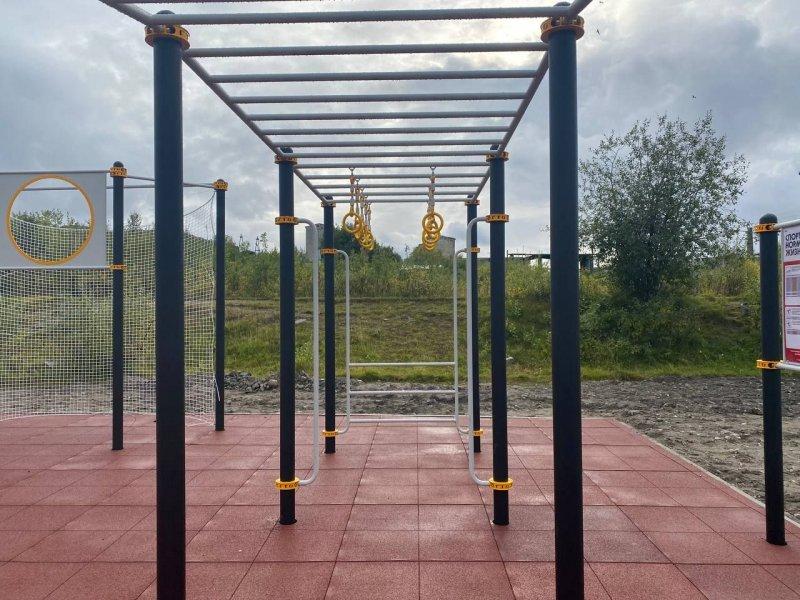 Новая спортивная площадка открылась в Полярном