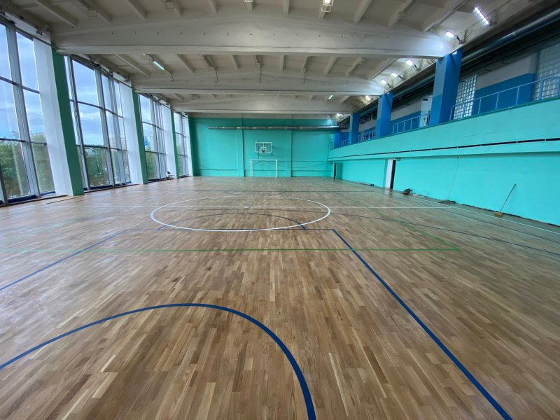 Капремонт спортзала Дома физкультуры закончили в Оленегорске