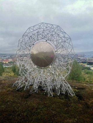 Солнце-барабан установили на Зеленом Мысе в Мурманске
