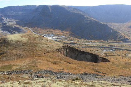 Обвалилась часть склона в Хибинах