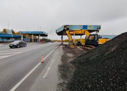 Демонтируют КПП возле Североморска