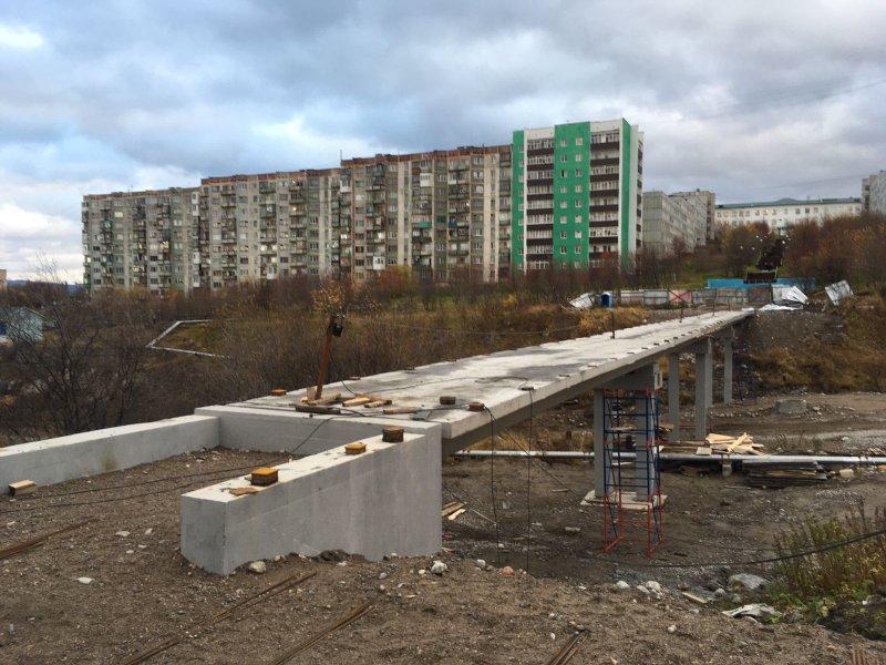Готов к асфальтированию мост в Полярном