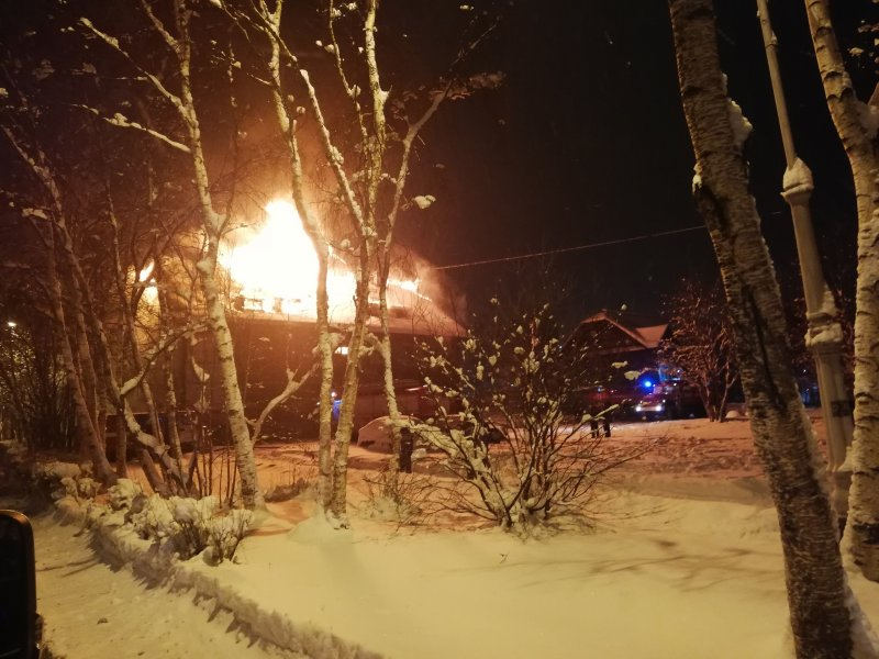 Погибла пенсионерка в горевшем доме в Колвице